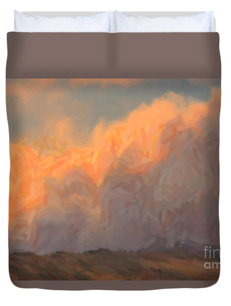 High Park Fire Duvet Cover by Jon Burch Photography