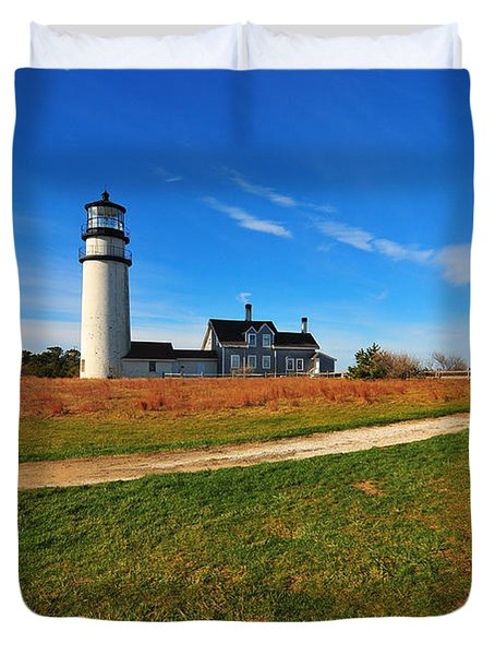 Highland Point Light Duvet Cover by Catherine Reusch  Daley