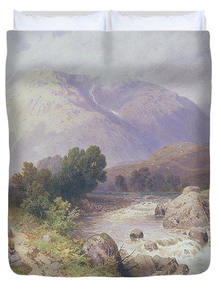 Highland Scene Near Dalmally Argyll Duvet Cover by Myles Birket Foster