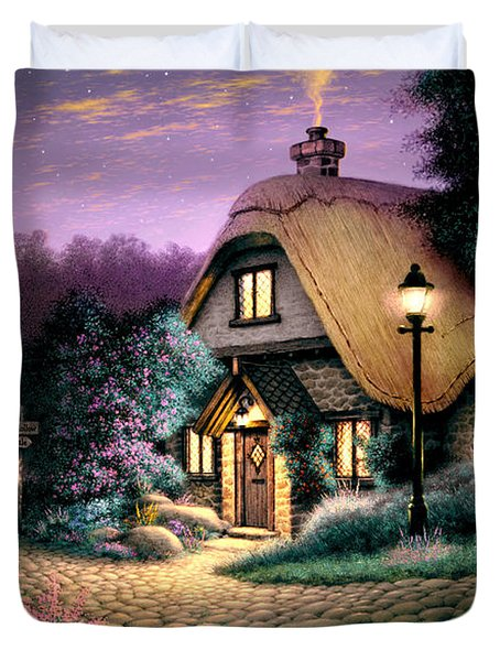 Hillcrest Cottage Duvet Cover by Steve Read