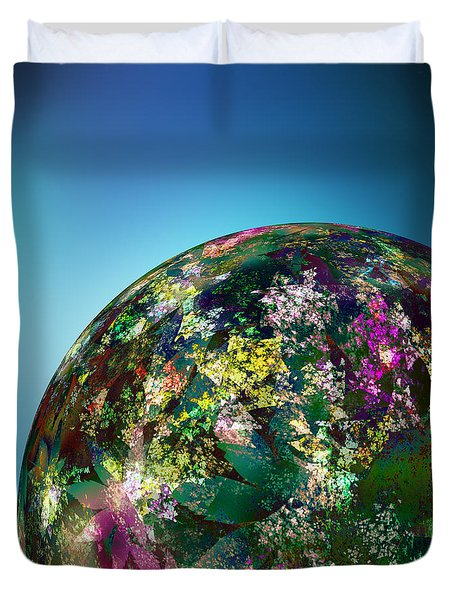 Hippies' Planet 2 Duvet Cover by Klara Acel