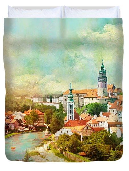 Historic Centre Of Cesky Krumlov Duvet Cover by Catf