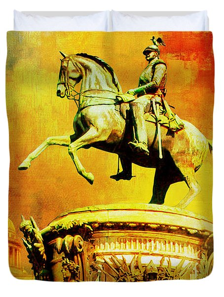 Historic Centre Of Saint Petersburg And Related Groups Of Monuments Duvet Cover by Catf