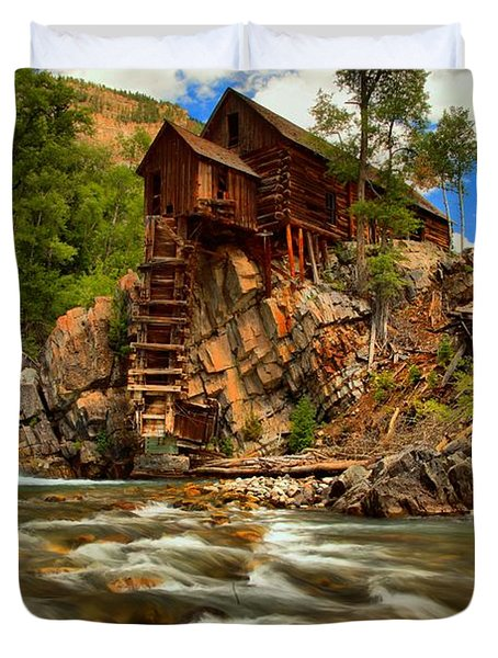 Historic Colorado Landscape Duvet Cover by Adam Jewell