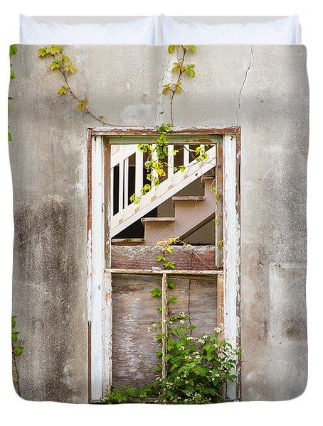 Historic Florida Building - Apalachicola Exchange Building Duvet Cover by Bill Swindaman