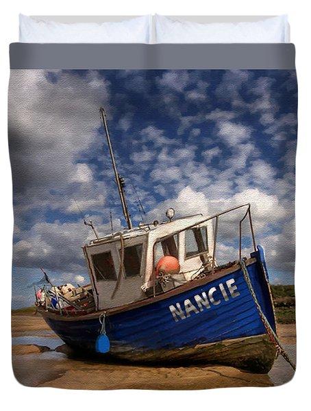 H.m.s. Nancie Duvet Cover by Jann Paxton