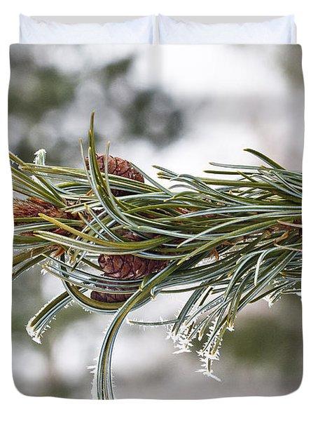 Hoar Frost Duvet Cover by Steven Ralser