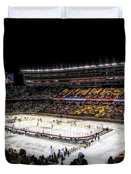 Hockey City Classic Duvet Cover by Tom Gort