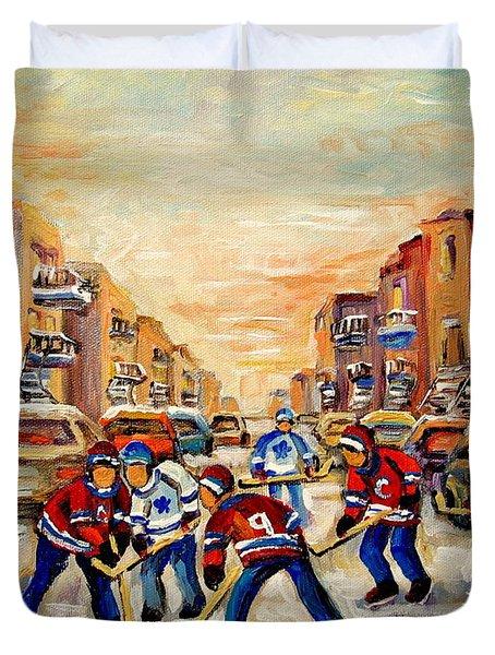 HOCKEY DAZE Duvet Cover by CAROLE SPANDAU