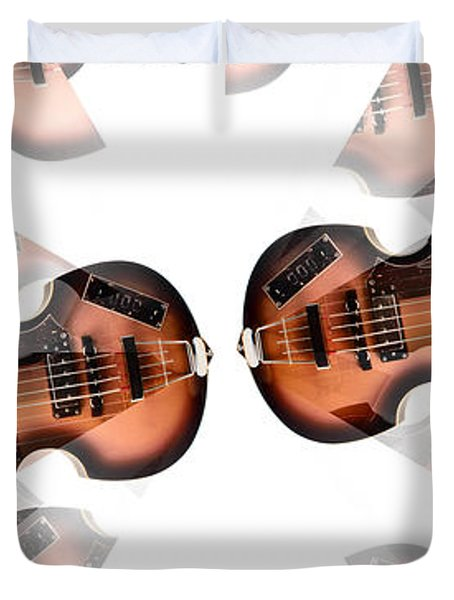 Hofner Bass Abstract Duvet Cover by Bill Cannon