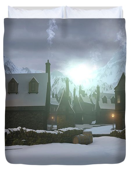 Hogsmeade Duvet Cover by Cynthia Decker