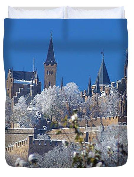 Hohenzollern Castle Germany Duvet Cover by Rudi Prott