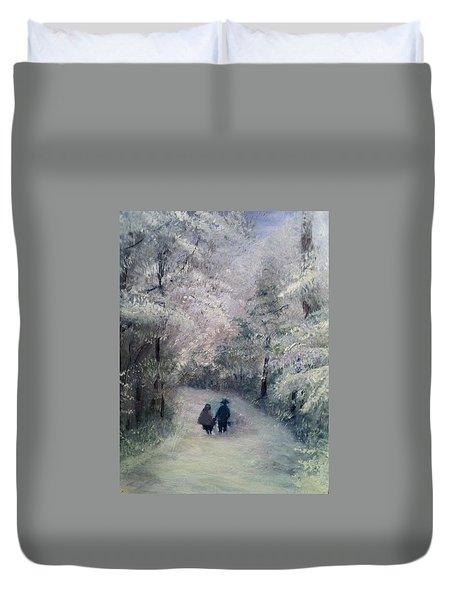 Hold My Hand Duvet Cover by Gail Kirtz