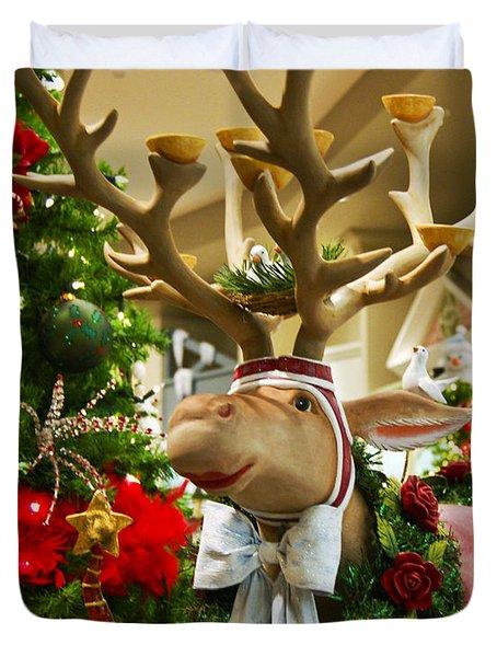 Holiday Reindeer Duvet Cover by Jon Berghoff
