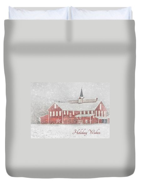 Holiday Wishes Duvet Cover by Lori Deiter