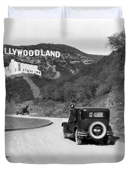 Hollywoodland Duvet Cover by Underwood Archives