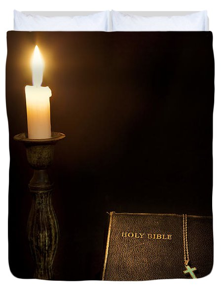 Holy Bible Duvet Cover by Bill  Wakeley