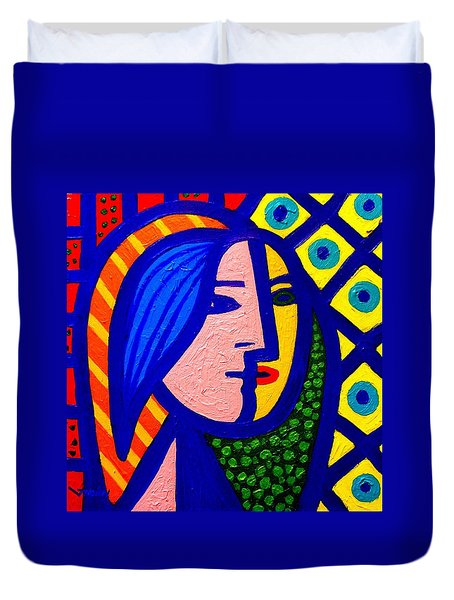 Homage To Pablo Picasso Duvet Cover by John  Nolan