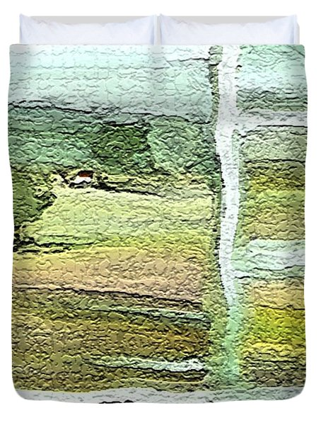 Home Alone As A  Patchwork Quilt Duvet Cover by Lenore Senior