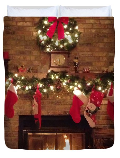 Home For Christmas Duvet Cover by Dan Sproul