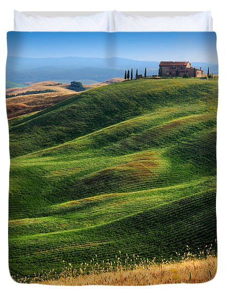 Home On The Hill Duvet Cover by Inge Johnsson