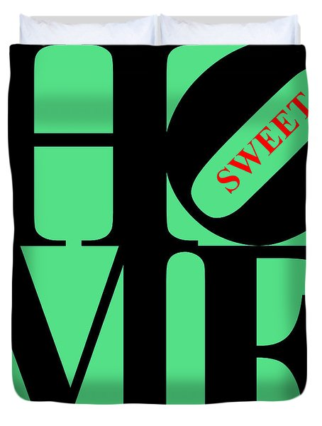 Home Sweet Home 20130713 Black Green Red Duvet Cover by Wingsdomain Art and Photography