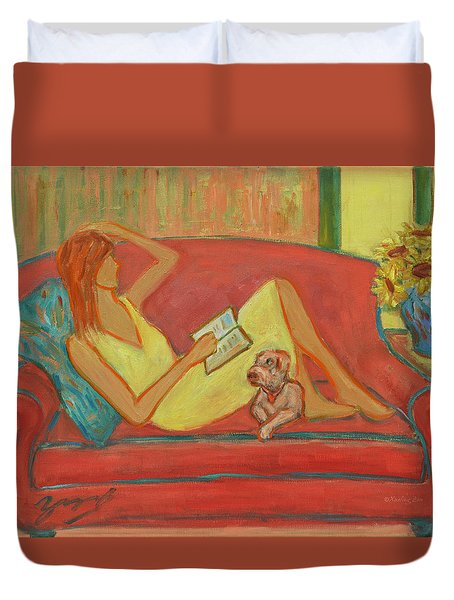 Home Where My Heart Is I Duvet Cover by Xueling Zou