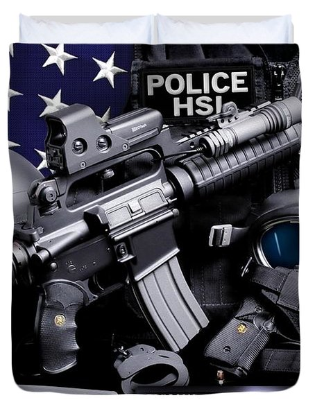 Homeland Security 1 Duvet Cover by Gary Yost