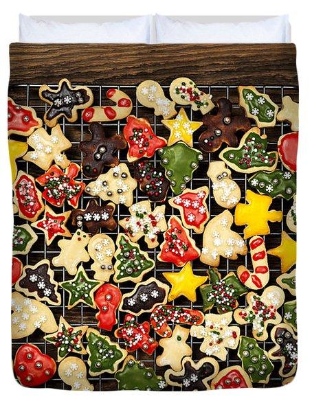 Homemade Christmas Cookies Duvet Cover by Elena Elisseeva