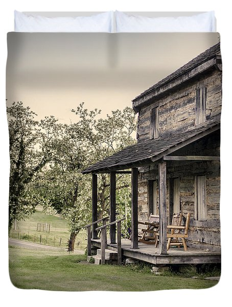 Homestead at Dusk Duvet Cover by Heather Applegate