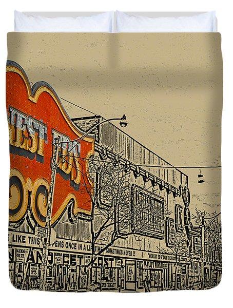 Honest Eds On Markham Street Duvet Cover by Nina Silver