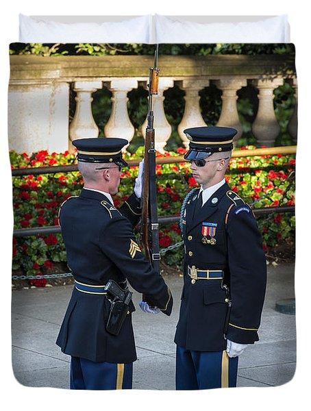 Honor Guard Inspection Duvet Cover by John Greim