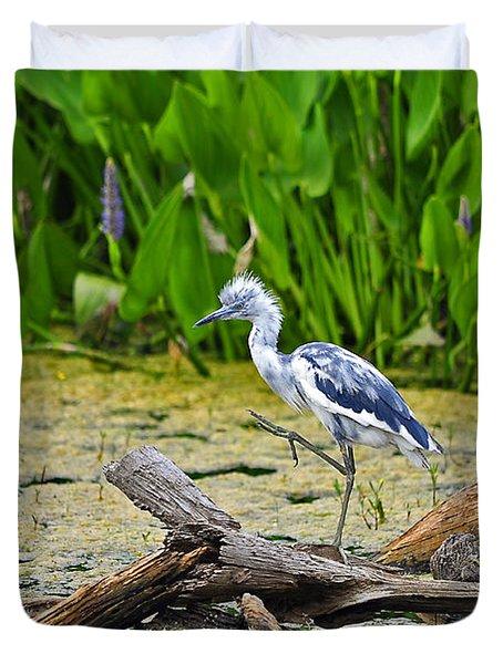Hooligan Heron Duvet Cover by Al Powell Photography USA