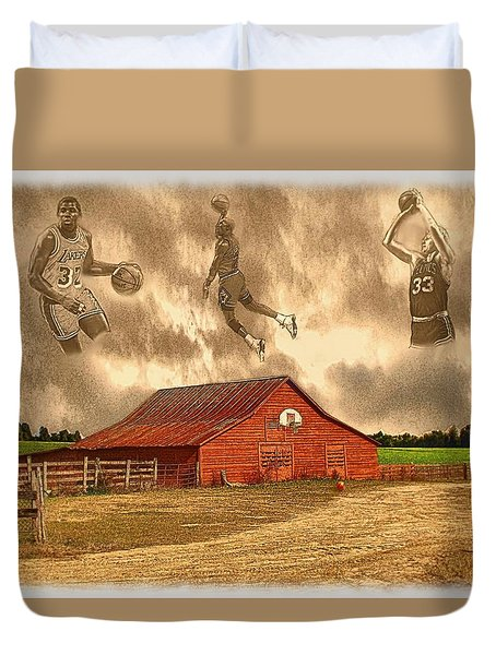 Hoop Dreams Duvet Cover by Charles Ott