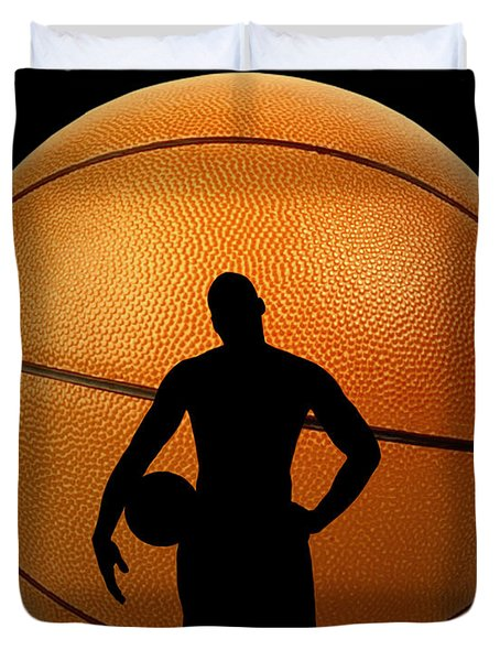 Hoop Dreams Duvet Cover by Cheryl Young