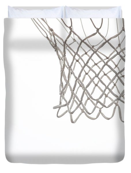 Hoops Duvet Cover by Karol  Livote