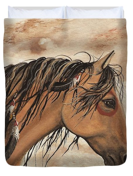 Hopa - Majestic Mustang Series Duvet Cover by AmyLyn Bihrle