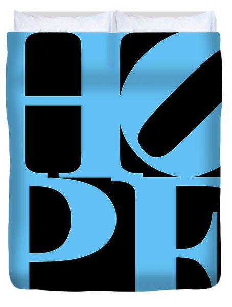 Hope 20130710 Blue Black Duvet Cover by Wingsdomain Art and Photography