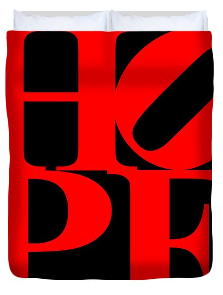 Hope 20130710 Red Black Duvet Cover by Wingsdomain Art and Photography