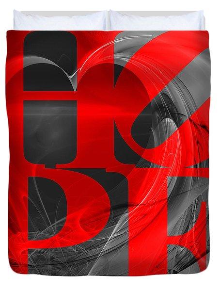 Hope Fractal Heart 20130710 V1b Duvet Cover by Wingsdomain Art and Photography