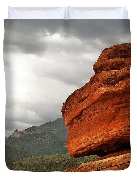 Hoping For Rain - Garden Of The Gods Colorado Duvet Cover by Christine Till