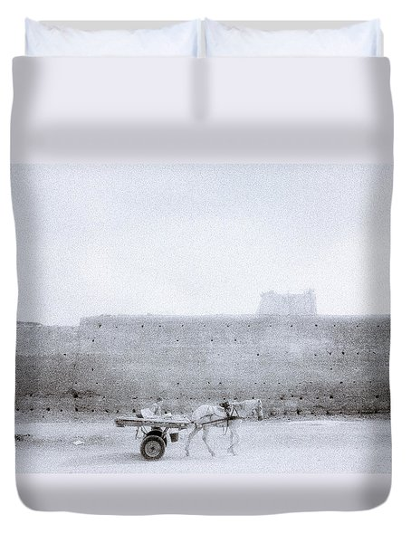 Horse And Cart Duvet Cover by Shaun Higson