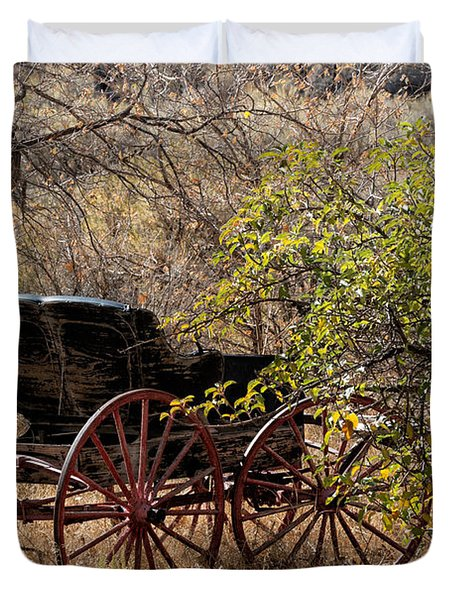 Horse-drawn Buggy Duvet Cover by Kathleen Bishop