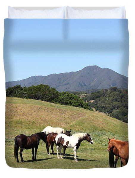 Horse Hill Mill Valley California 5D22672 Duvet Cover by Wingsdomain Art and Photography