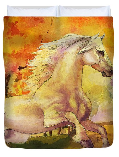 Horse Paintings 003 Duvet Cover by Catf