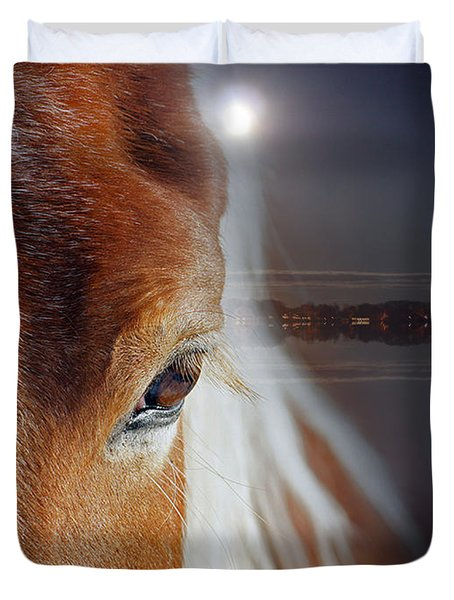Horses  Duvet Cover by Mark Ashkenazi