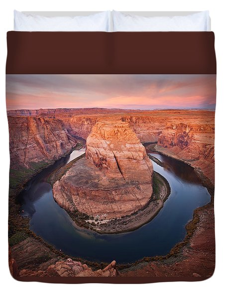 Horseshoe Dawn Duvet Cover by Mike  Dawson