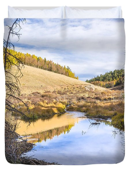 Horsethief Creek Beaver Pond - Cripple Creek Colorado Duvet Cover by Brian Harig