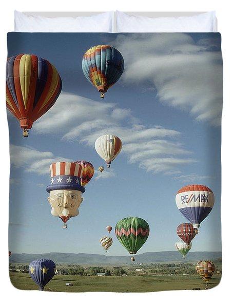 Hot Air Balloon Duvet Cover by Jim Steinberg