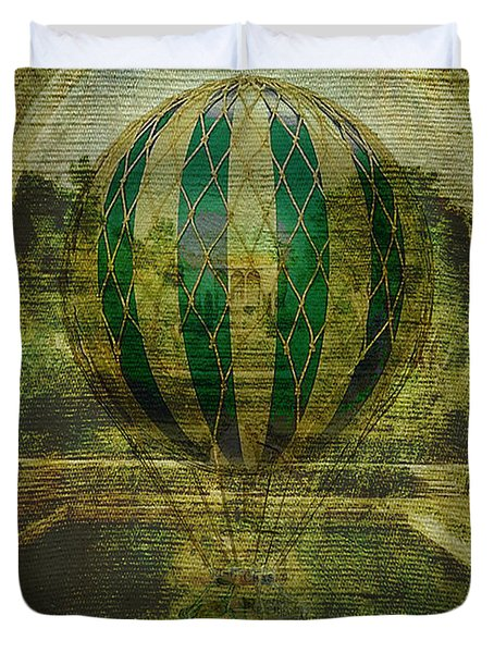 Hot Air Balloon Voyage Duvet Cover by Sarah Vernon